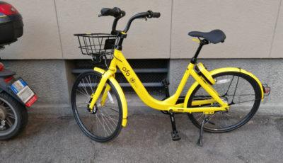 Una bici del servizio di bike sharing in free floating Ofo Bike