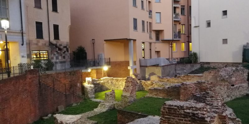 I resti del palazzo imperiale di Massimiano