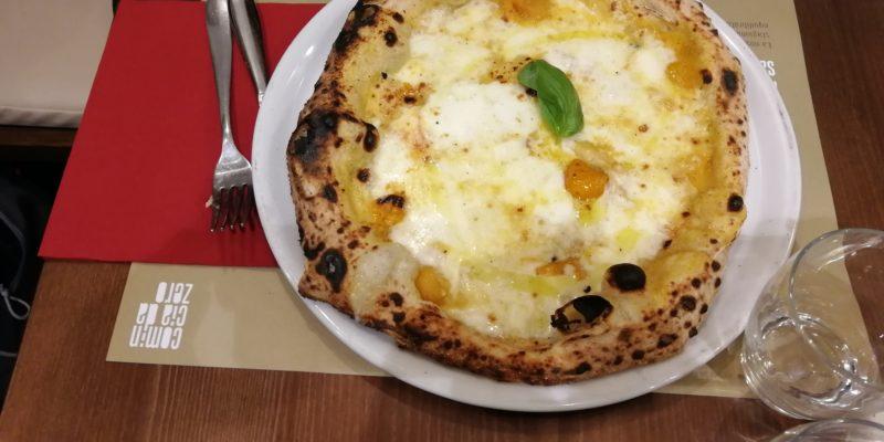 Pizza con pomodorini gialli da Zero