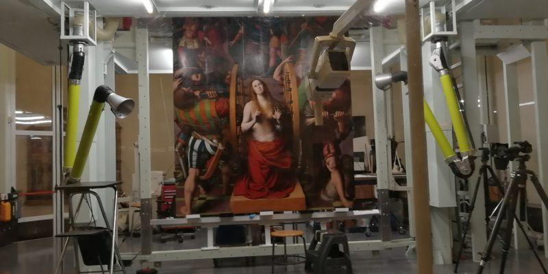 Il laboratorio di restauro nella Pinacoteca di Brera