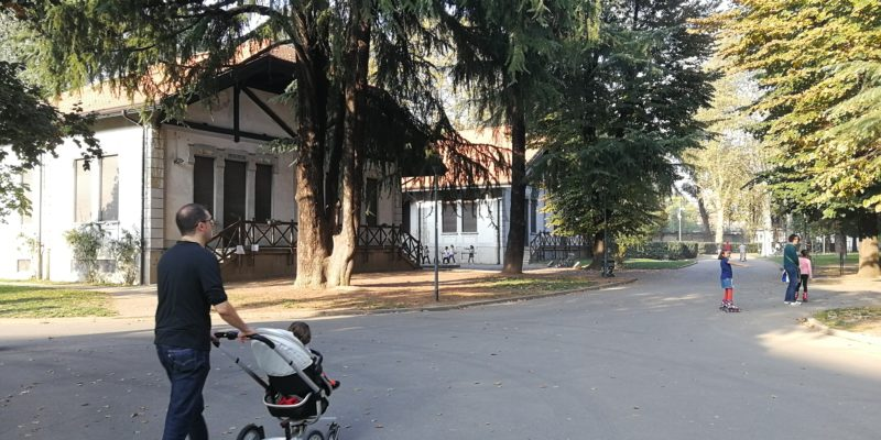 Il Parco Trotter fra viale Monza e via Padova