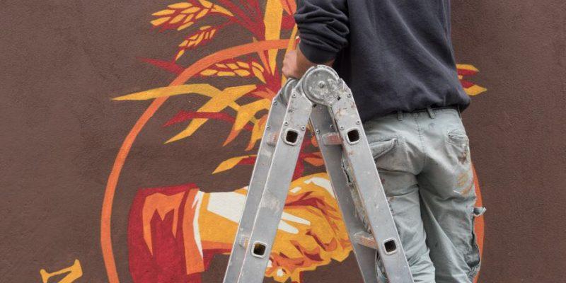 Realizzazione di un murale all'Ortica